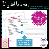 DIGITAL LITERACY - Rules of Technology at Home Activity (NO PREP Worksheet)