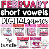DIGITAL Learning Phonics Games for Short Vowels - FEBRUARY