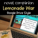 DIGITAL Lemonade War Novel Study on Google Drive