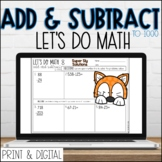 DIGITAL Lets Do Math No Prep 2nd Grade ADD AND SUBTRACT to