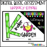 DIGITAL Literacy & Math Assessment for kindergarten