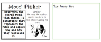 DIGITAL Literature Circle Task Cards