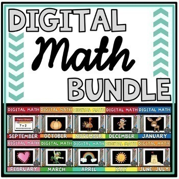 DIGITAL MATH CENTERS MONTHLY BUNDLE for Google Slides ®
