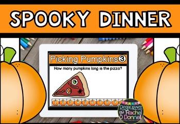 DIGITAL MATH CENTERS OCTOBER Halloween for Google Slides ®