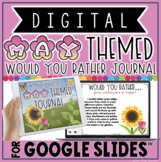 "DIGITAL MAY THEMED ""Would You Rather.."" WRITING JOURNAL IN"