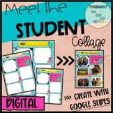 DIGITAL MEET THE STUDENT ALL ABOUT ME PICTURE COLLAGE for Distance Learning