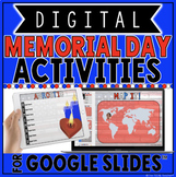 DIGITAL MEMORIAL DAY ACTIVITIES IN GOOGLE SLIDES™