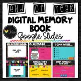 DIGITAL MEMORY BOOK IN GOOGLE SLIDES™ - End of Year