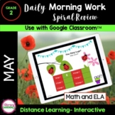 DIGITAL MORNING WORK - 2nd Grade - MAY Google Slides™ for