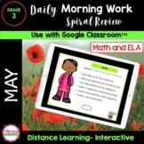 DIGITAL MORNING WORK - 3rd Grade - MAY Google Slides™ DIST