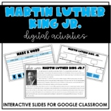 DIGITAL Martin Luther King Jr. Activities for Google Drive    Virtual Learning