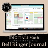 DIGITAL Math Bell Ringer Journal for the Entire School Year: Middle/High School