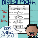 DIGITAL Math Practice for the 2nd Grade Standard 2.MD.A.3 Distance Learning