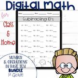 DIGITAL Math Practice for the First Grade NBT Standards BU