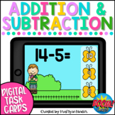 Spring Math Boom Cards Addition and Subtraction to 20