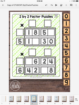 DIGITAL Math Tiles: 2 by 2 Factor Puzzles