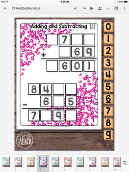 DIGITAL Math Tiles: Adding and Subtracting  Math Centers