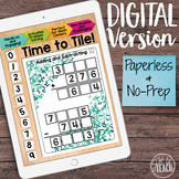 DIGITAL Math Tiles: Adding and Subtracting Math Centers Distance Learning