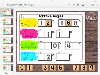 DIGITAL Math Tiles: Additive Angles