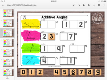 DIGITAL Math Tiles: Additive Angles