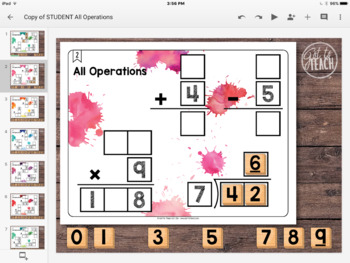 DIGITAL Math Tiles: All Operations {Add, Subtract, Multiply, & Divide}