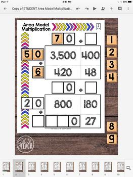 DIGITAL Math Tiles: Area Model Multiplication