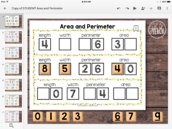DIGITAL Math Tiles: Area and Perimeter