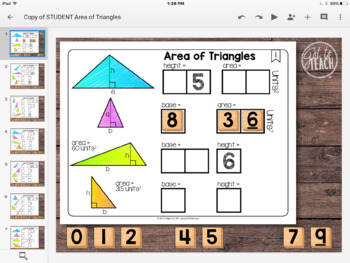 DIGITAL Math Tiles: Area of Triangles