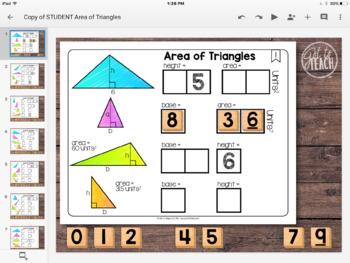 DIGITAL Math Tiles: Area of Triangles