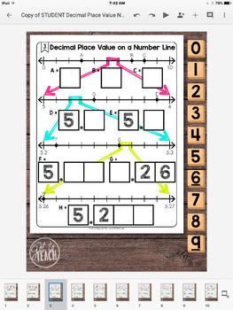 DIGITAL Math Tiles: Decimal Place Value on a Number