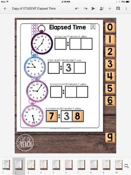 DIGITAL Math Tiles: Elapsed Time