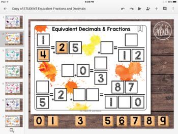 DIGITAL Math Tiles: Equivalent Decimals and Fractions