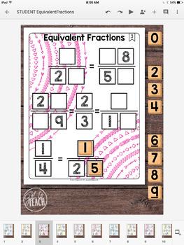DIGITAL Math Tiles: Equivalent Fractions
