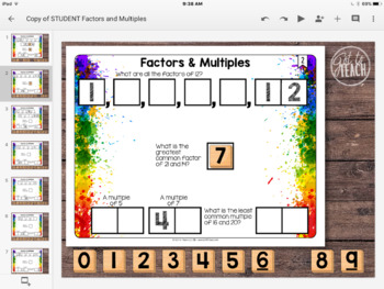 DIGITAL Math Tiles: Factors and Multiples