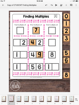 DIGITAL Math Tiles: Finding Multiples