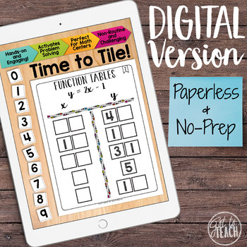 DIGITAL Math Tiles: Function Tables