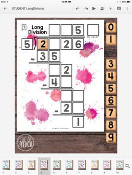 DIGITAL Math Tiles: Long Division