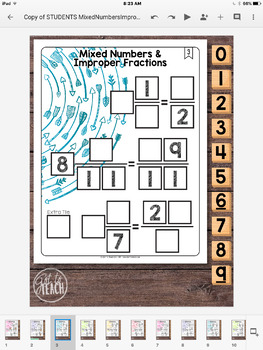 DIGITAL Math Tiles: Mixed Numbers and Improper Fractions