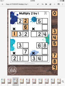 DIGITAL Math Tiles: Multiply 2 by 1