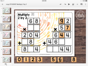 DIGITAL Math Tiles: Multiply 2 by 2