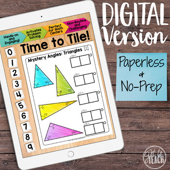 DIGITAL Math Tiles: Mystery Angles (Triangles)