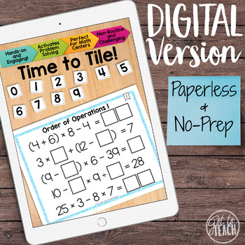 DIGITAL Math Tiles: Order of Operations 1 [Without Exponents]