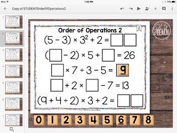 DIGITAL Math Tiles: Order of Operations 2 [With Exponents]