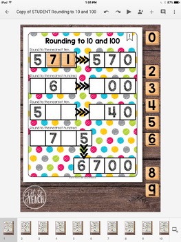 DIGITAL Math Tiles: Rounding to 10 and 100