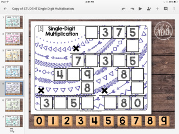 DIGITAL Math Tiles: Single-Digit Multiplication