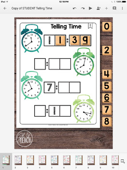 DIGITAL Math Tiles: Telling Time