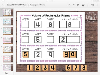 DIGITAL Math Tiles: Volume of Rectangular Prisms