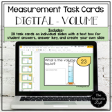 DIGITAL Measurement Task Cards VOLUME - DISTANCE LEARNING