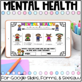 DIGITAL Mental Health Check In for Google Slides, Forms, and Seesaw