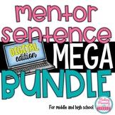 DIGITAL Mentor Sentences MEGA Bundle - Middle and High School - UPDATED